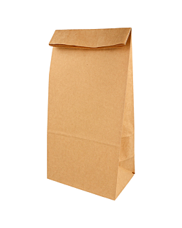 sos bags without handles 48 gsm 18+12x28 cm natural kraft (500 unit)