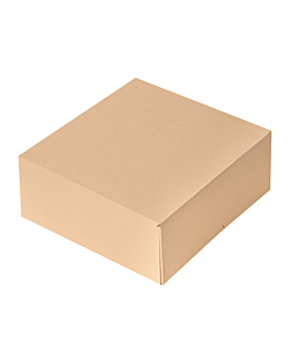 cake boxes without window 'thepack' 240 gsm 18x18x7,5 cm natural nano-micro corrugated cardboard (200 unit)