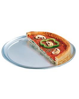 flat pizza plate Ø 35 cm silver aluminium (1 unit)