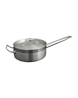 saute frying pan with lid 4,5 l Ø 26x8,5 cm silver stainless steel (1 unit)