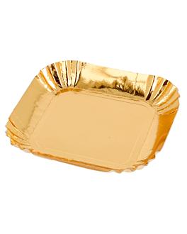 mini trays 325 g/m2 6,5x6,5 cm gold cardboard (100 unit)