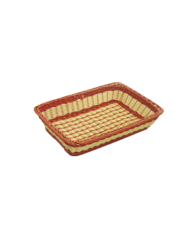 bakery basket imitation wicker 45x32,5x10,5 cm natural pp (1 unit)