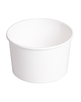 salad bowls 480 ml 300 + 18 pe gsm Ø11,1/9,5x7 cm white cardboard (500 unit)