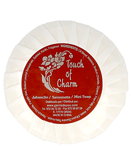 round soaps 'touch of charm' 18 g Ø4,5x1,5 cm white (500 unit)
