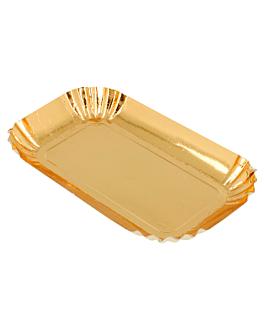 mini rectangles 325 g/m2 9,5x5 cm gold cardboard (100 unit)