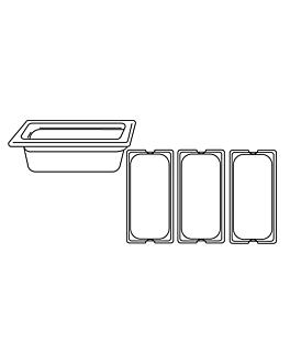 gastronorm pan 1/3 3,2 l 32,5x17,6x10 cm clear polycarbonate (1 unit)