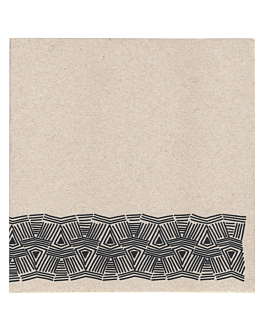 ecolabel napkins 'double point - maya' 18 gsm 40x40 cm natural recycled tissu (1200 unit)