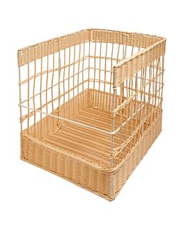 bakery basket imitation wicker 40x40x50 cm natural pp (1 unit)