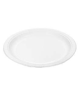 round plates 320 gsm Ø 26 cm white cardboard (300 unit)