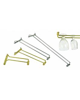 rack para copas 41 cm dorado acero (1 unid.)
