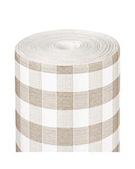 tablecloth 'like linen - vichy' 70 gsm 1,20x25 m taupe spunlace (1 unit)