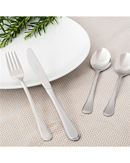 tenedores de postre 'marlene' 18,5 cm plateado acero (12 unid.)