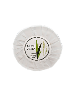 small round soap bars 'aloe vera' 18 g Ø5,2x1 cm (500 unit)