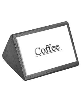 """identificadores """"coffee"""" 7,5x4,5 cm preto madeira (12 unidade)"""