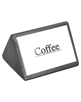 "identificadores ""coffee"" 7,5x4,5 cm negro madera (12 unid.)"