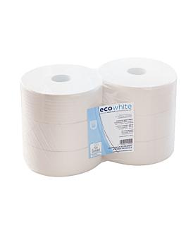 """hygiÉnique """"maxi jumbo"""" ecolabel 2 plis - 1kg 17 g/m2 Ø26x9,5 cm blanc ouate (6 unitÉ)"""