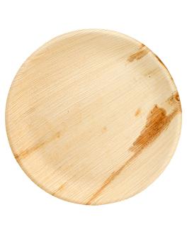 assiettes rondes 'areca' Ø 23x2 cm naturel areca (200 unitÉ)