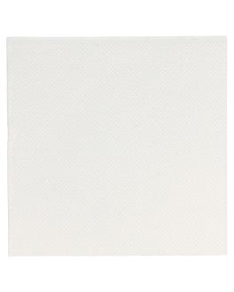 servilletas ecolabel 'double point' 18 g/m2 20x20 cm blanco tissue (2400 unid.)