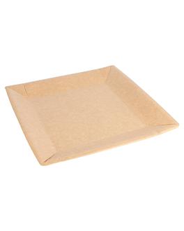 square bio-lacquered plates 260 gsm 23x23 cm natural cardboard (400 unit)