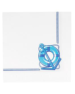 tovaglioli ecolabel 'double point - cadaquÉs' 18 g/m2 40x40 cm bianco tissue (1200 unitÀ)