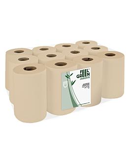 """essuie-mains """"mini-barril"""" ecolabel 1 pli - 300 feuilles 22 g/m2 Ø 13x20 cm naturel papier recyclÉ (12 unitÉ)"""
