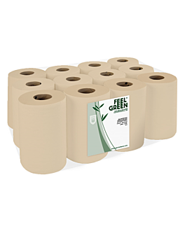 "secamanos ""mini barril"" ecolabel 1 capa - 300 hojas Ø 13x20 cm natural papel reciclado (12 unid.)"