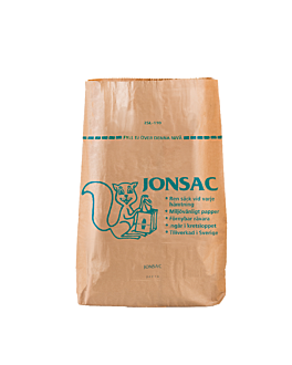biodegradable rubbish bags 110 l 2x60 gsm 70x95x25 cm brown kraft (50 unit)