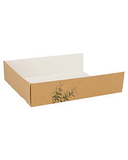 server multipurpose 'feel green' 300 gsm 15x12x3,5 cm brown cardboard (1000 unit)