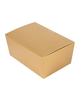 100 u. boÎtes 'ballotin' 750 gr 15,5x10x7 cm dore carton (1 unitÉ)