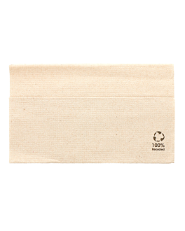 ecolabel napkins 1 ply 'master servis' 23 gsm 33x33 cm natural recycled tissu (4800 unit)