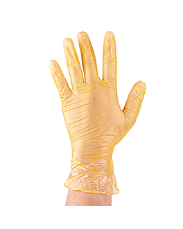 gloves with talc size: m yellow pvc (100 unit)