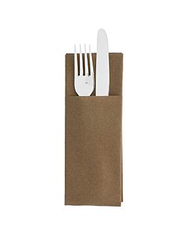 "serviettes ""cangurito"" 55 g/m2 33x40 cm chocolat airlaid (700 unitÉ)"