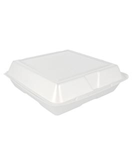 container de foam 24x24x8 cm blanc pse (200 unitat)