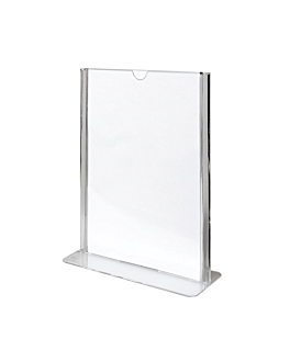 tabletop menu holders din-a5 14,8x21 cm clear ps (20 unit)
