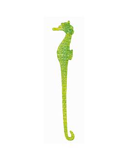 "whisky stirrers ""sea horse"" 15 cm assorted ps (100 unit)"