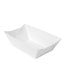 containers 'thepack' 240 g 230 gsm 8,5x5x4 cm white nano-micro corrugated cardboard (200 unit)