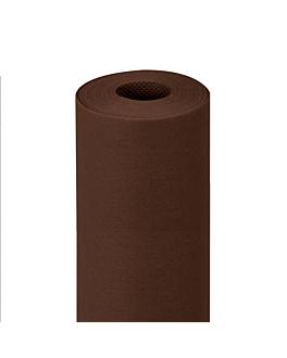 mantel precortado 120 cm 'spunbond' 60 g/m2 1,20x9,6 m chocolate pp (12 unid.)