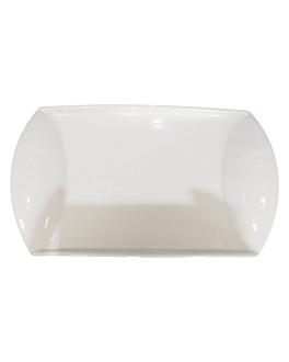 platos rectangulares 30,5x18,2x3,5 cm blanco porcelana (6 unid.)