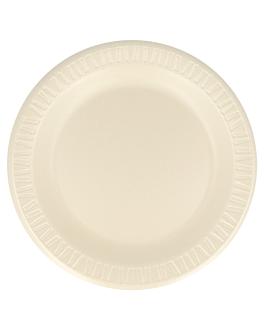 """prato em """"foam"""" laminado Ø 23 cm amÊndoa pse (500 unidade)"""