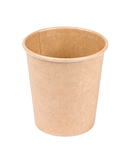 small containers 120 ml 210 + 18 pe gsm Ø6,15/4,5x6,5 cm brown cardboard (1000 unit)