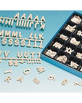 400 caracteres 2,5 cm beige plÁstico (1 unid.)
