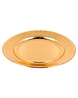 piatti 310 g/m2 Ø23 cm oro cartone (250 unitÀ)