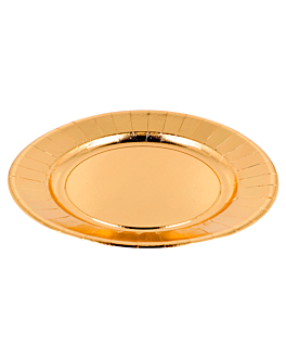 plates 310 g/m2 Ø23 cm gold cardboard (250 unit)