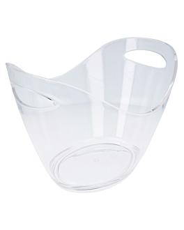 seau oval 27x20x20 cm transparent acrylique (1 unitÉ)
