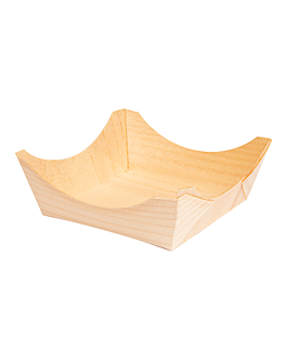 pine bark containers 8x8x3,5 cm natural wood (1000 unit)