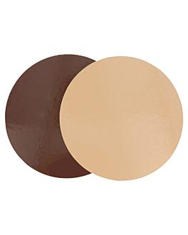 cartone pasticceria doppia faccia 1100 g/m2 Ø 26 cm cioccolato/pralina cartone (100 unitÀ)