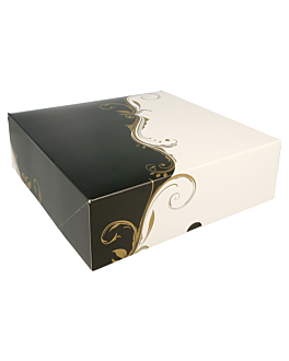 cake boxes without window 275 gsm 23x23x7,5 cm white cardboard (50 unit)