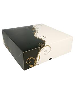 boÎtes patisseries sans fenÊtre 275 g/m2 23x23x7,5 cm blanc carton (50 unitÉ)