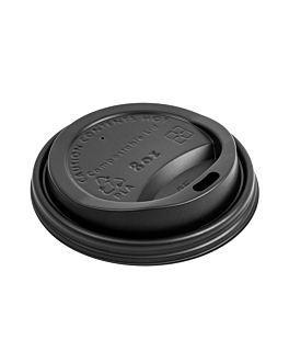 lids for cups 240 ml 'biodegradable' black cpla (1000 unit)