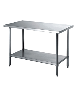 working table 2 levels 90x60x90 cm silver stainless steel (1 unit)
